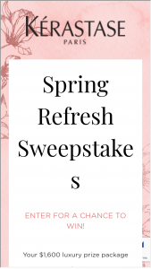 L'oreal USA – Spring Refresh Sweepstakes