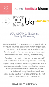 Mentionables – You Glow Girl Spring Beauty Giveaway Sweepstakes