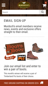 Murdoch's – Boots To Boot – Win a pair of the featured boots for that month