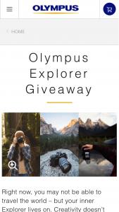 Olympus – Explorer Giveaway – Win One (1) Explorer Package