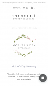 Saranoni – Mother's Day Giveaway – Win package (valued at $350) from Corrine Stokoe with @mintarrow $350 shop credit to PMD and $350 shop credit to Oilo Studios