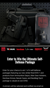 Sccy Industries – Ultimate Self-Defense Package Sweepstakes