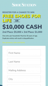 Shoe Station – Shoes For Life Sweepstakes