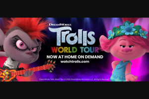 Southwest Airlines – Dreamworks Trolls World Tour Destination – Win a trip for two (2) to any one (1) of the six (6) different DreamWorks Trolls World Tour inspired Southwest-served destinations