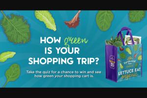 Taylor Farms – Earthbound Farm 2020 Earth Month Reusable Bag Giveaway – Win an Earthbound Farm reusable shopping bag