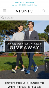 Vionic Shoes – Put Some Spring In Your Step Giveaway – Win an electronic gift card redeemable for one pair of Vionic Shoes