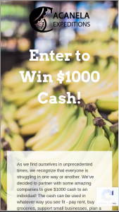 Acanela – $1000 Grant For An Individual Or Family In Need – Win to an individual (total value of $1000).