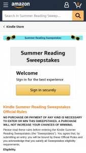 Amazon – Kindle Summer Reading – Win one (1) Kindle Oasis with a digital gift of the Top 20 Summer Blockbuster books