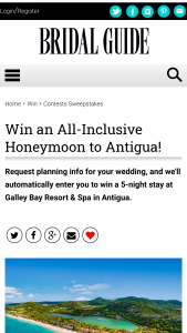 Bridal Guide – July-August 2020 Your Little White Book Sweepstakes