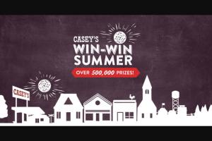 Casey's – Win-Win Summer – Win A $20000 check  Entry Period) A $10000 check  Entry Period) A $5000 check
