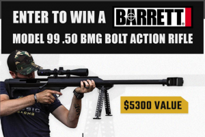 Classic Firearms – Win A Barrett M99 Bolt Action Rifle W/ Zeiss Conquest 3-12×44 Scope – Win a Barrett M99 Bolt Action Rifle w/ Zeiss Conquest 3-12×44 Scope approximate retail value $5300.00.