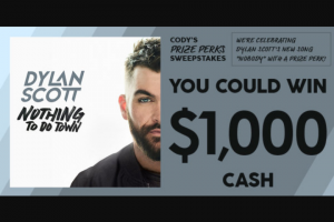 CMT – Cody's Prize Perks Sweepstakes