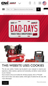 Cnh Industrial – Case Ih Dad Days Truck Tools – Win for the winner will be a Case IH-branded tool box with tools truck-mounted air compressor and jump starter with inverter with an approximate retail value of $3371 USD