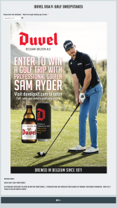 Duvel Moortgat – Duvel USA Golf – Win A trip for (2) to Phoenix