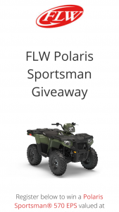 Flw – Polaris Sportsman Giveaway – Win Sportsman® 570 EPS valued at approximately $7799.