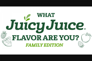 Harvest Hill Beverage – Juicy Juice What Juicy Juice Flavor Are You – Family Edition Sweepstakes