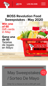 Idt Domestic Telecom – Boss Revolution Grocery Sweepstakes