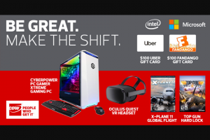 Intel And Cdw – Be Great Make The Shift Sweepstakes