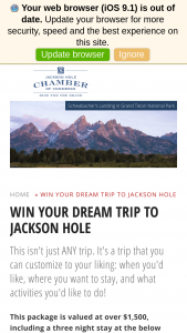 Jackson Hole – Dream Trip Giveaway Sweepstakes