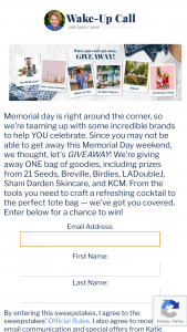 Katie Couric Media – When You Can't Getaway Giveaway Sweepstakes