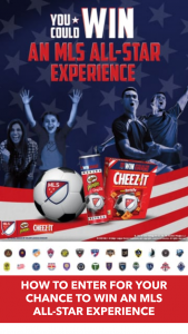 Kellogg's – Cheez-It & Pringles Mls  – Win a trip for winner and one guest to attend the 2020 Major League Soccer All-Star Experience in Los Angeles