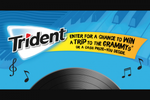 Mondelez Global – 2020 Trident Chew Tunes – Win one Bluetooth stereo turntable and one Trident product