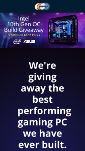 NEWEGG – Intel 10th Gen Oc Build Giveaway Ft Asus – Win One Custom Intel 10th Gen OC Build PC (ARV $4900.00) Total ARV of all prizes offered $4900.00