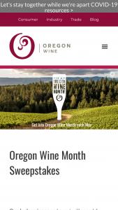 Oregon Wine Board – Oregon Wine Month 2020 Sweepstakes