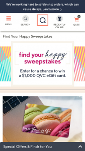 QVC – Find Your Happy – Win be awarded a $1000 QVC eGift card