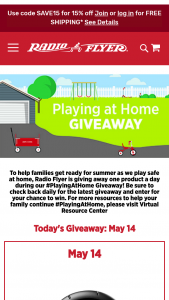 Radio Flyer – Playing At Home Giveaway – Win a Radio Flyer product