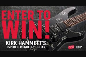 Revolver – Kirk Hammett Esp Guitar Giveaway – Win one ESP LTD KH Demonology Guitar with EMG Bone Breaker pickups