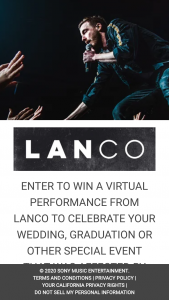 Sony Music – Lanco Virtual Live Performance – Win Virtual live private performance from LANCO band members of at least one original song via a video conference platform such as Zoom