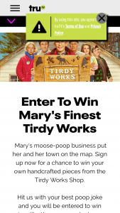 Turner Entertainment Networks – Trutv Tirdy Works – Win Five (5) Second Prizes A Tirdy Works picture frame and Tirdy Works Fecal People (ARV $27.00 per prize).