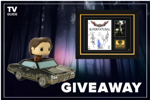 TV Guide – Great Winchester Brothers Giveaway – Win one (1) $200 gift card for Hot Topic one (1) SUPERNATURAL SCRIPT LIMITED SIGNATURE EDITION STUDIO LICENSED CUSTOM FRAME one Funko Supernatural POP