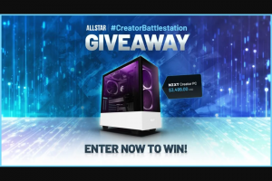 Vast – Allstar Gaming Nzxt Creator PC Giveaway – Win Creator PC Giveaway (valued at $3499.99 USD)