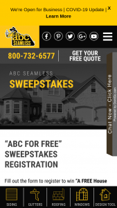 ABC Seamless – House Of Siding Or Windows – Win be awarded up to $20000 in siding and accessories