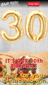 Baja Fresh – It's Our Birthday Swag Giveaway – Win a Baja Fresh merchandise package valued up to $75.00.