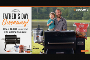 Bbqguys – Traeger Father's Day Giveaway Sweepstakes