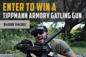 Classic Firearms – Tippmann Armory Gatling Gun – Win is a Tippmann Armory Gatling Gun approximate retail value $4500.00.