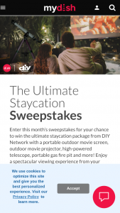 Dish Network – Diy Ultimate Staycation Sweepstakes
