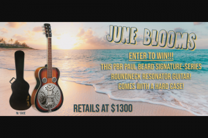 Gold Tone – June Bloom – Win 1 Paul Beard Signature-Series Roundneck Resonator Guitar with Case