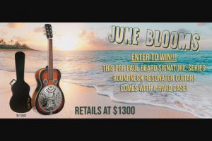 Gold Tone – June Bloom – Win 1 Paul Beard Signature-Series Roundneck Resonator Guitar with Case