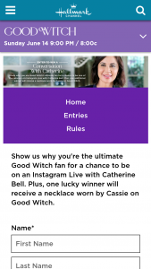 Hallmark Channel – Conversation With Catherine Bell Sweepstakes