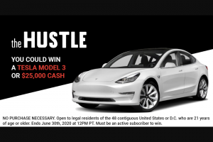 Hustle Con Media – Tesla Model 3 Car Giveaway Sweepstakes