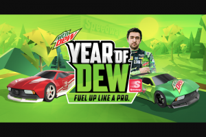 Pepsi-Cola – Mtn Dew Fuel Up Like A Pro Sweepstakes