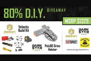 Prepper Support – 80% Diy Giveaway – Win Polymer80 Glock 19 Velocity Build kit