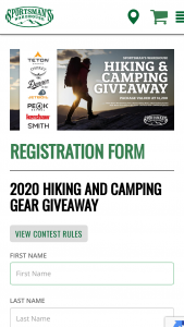 Sportsman's Warehouse – Hiking & Camping Giveaway Sweepstakes