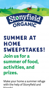 Stonyfield – Summer At Home – Win be awarded to the winner will be comprised of One (1) MiniMax EGG with Nest Package