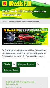 United Refining – 2020 Kwik Fill Driving America Sweepstakes
