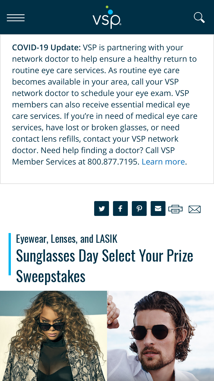Vsp - Sunglasses Day - Win their choice of either a Na ...